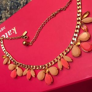 Kate Spade pink statement necklace